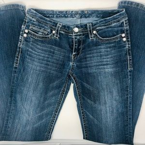 Seven7 Rocker Slim size 28 low rise jeans
